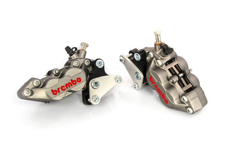 Front brake caliper 4 pot kit for Harley Davidson XG Street Rod (Titanium)
